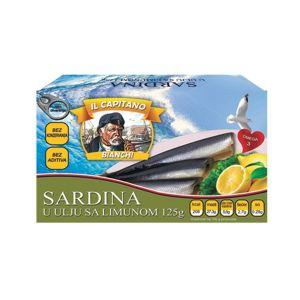 Il Capitano sardine sa limunom 125g