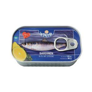 La Perla sardine u ulju sa limunom 125g