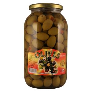 Olives zelena maslina sa paprikom tegla 1,5kg