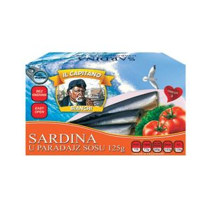 Il Capitano sardine u paradajz sosu 125g