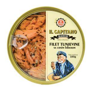 Il Capitano fileti tunjevine sa crnim biberom I limunom  160g TL