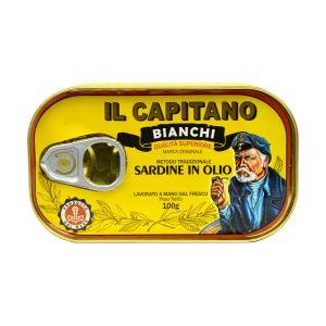 Il Capitano sardine u ulju 100g - retro