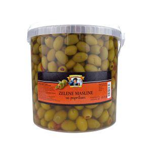 Il Capitano zelena maslina sa paprikom rinfuz kanta 4kg