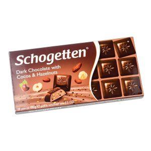 Schogetten tamna cokolada sa kakao i lesnik kremom 100g